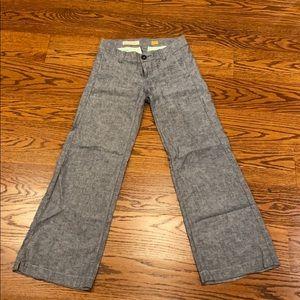 Pilcro and the Letterpress size 2 blue linen pants